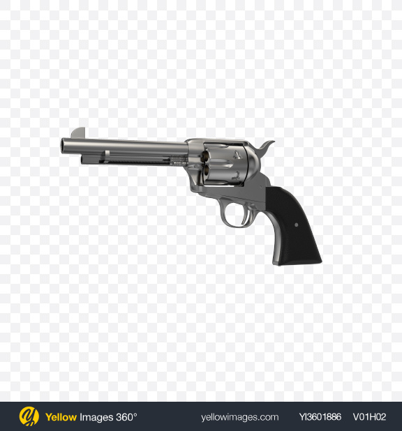 Download Steel Revolver Transparent PNG on Yellow Images 360°