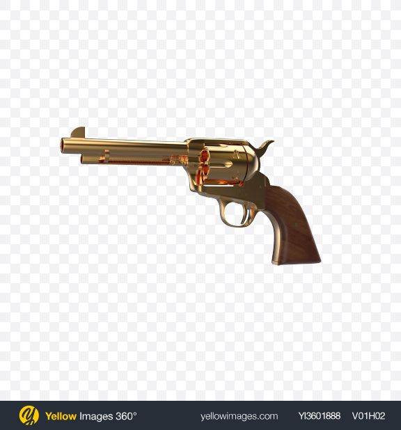 Download Gold Revolver Transparent PNG on YELLOW Images
