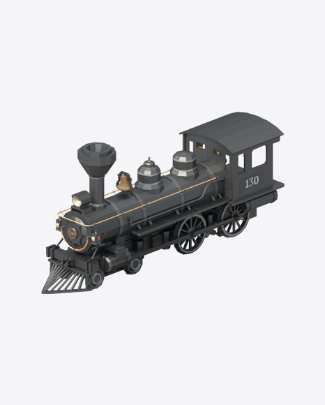 Low Poly Locomotive