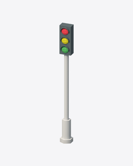 Low Poly Traffic Lights
