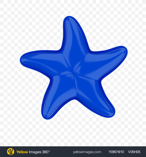 Download Blue Star Beach Toy Transparent PNG on Yellow Images 360°
