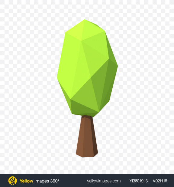 Download Low Poly Shrub Transparent PNG on Yellow Images 360°