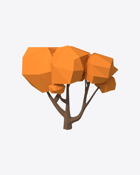 Low Poly Autumn Tree