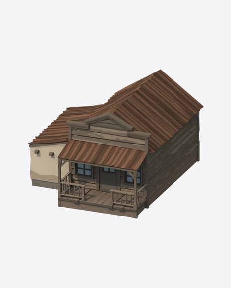 Low Poly Western Jail
