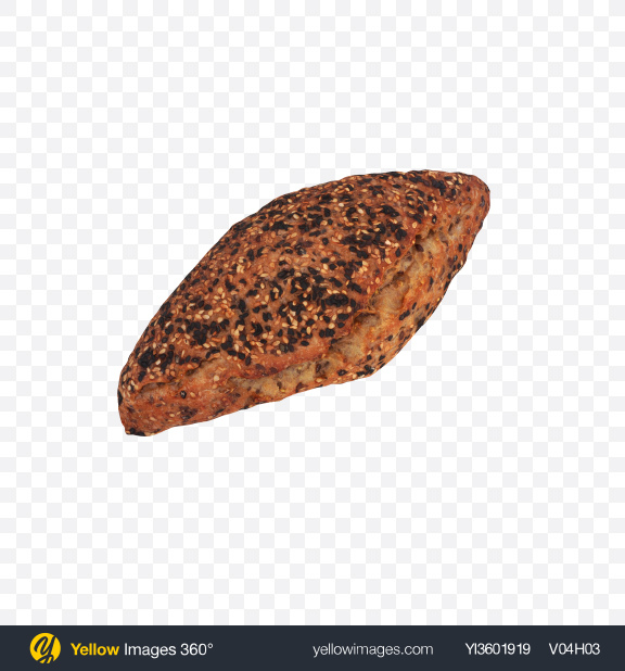 Download Bread with Chia Seeds Transparent PNG on Yellow Images 360°