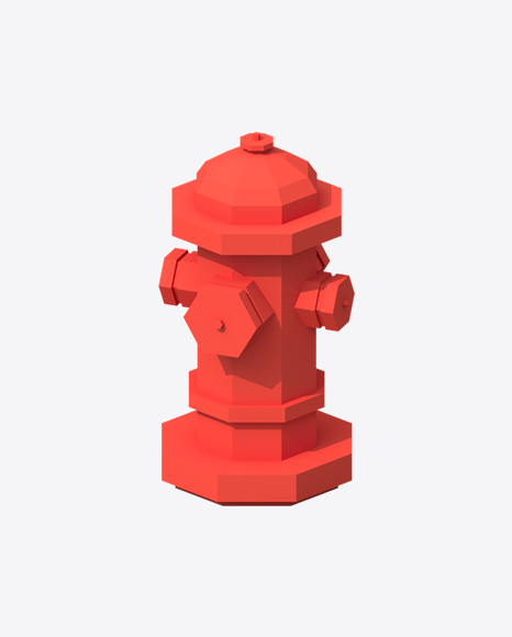 Low Poly Hydrant