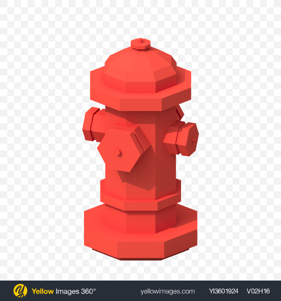 Download Low Poly Hydrant Transparent PNG on Yellow Images 360°