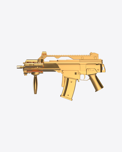 Gold Assault Rifle with Folded Stock