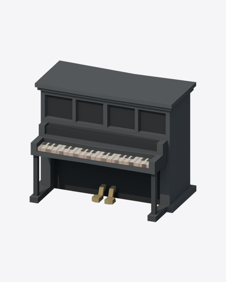 Low Poly Saloon Piano
