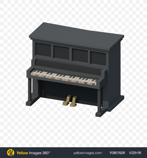 Download Low Poly Saloon Piano Transparent PNG on PNG Images