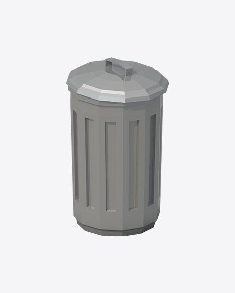 Low Poly Trash Can