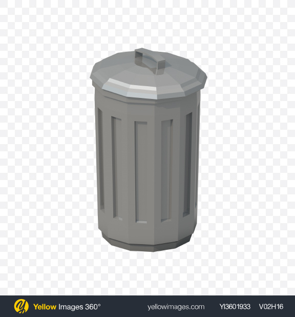 Download Low Poly Trash Can Transparent PNG on PNG Images