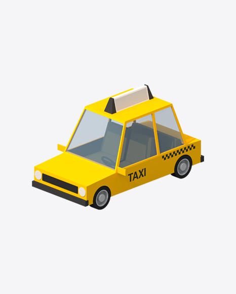 Low Poly Taxi Car