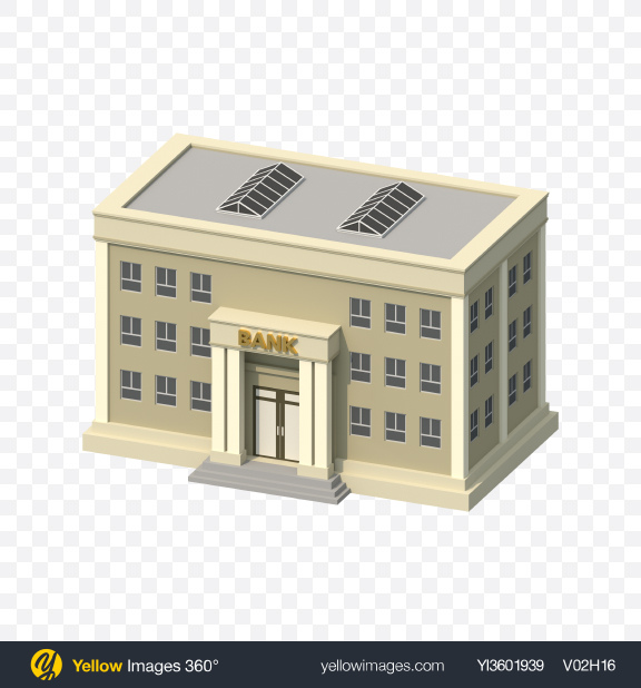 Download Low Poly Bank Building Transparent PNG on PNG Images