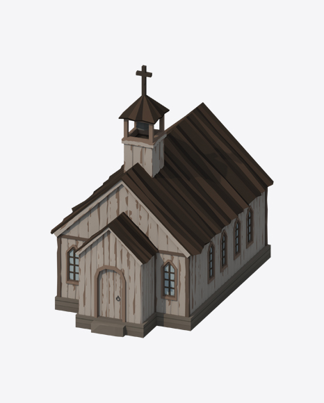 Low Poly Western Church