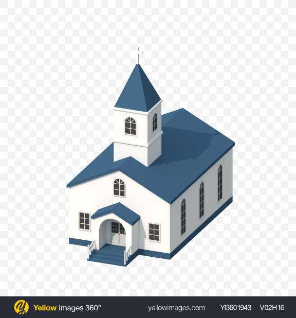 Download Low Poly Church Transparent PNG on Yellow Images 360°