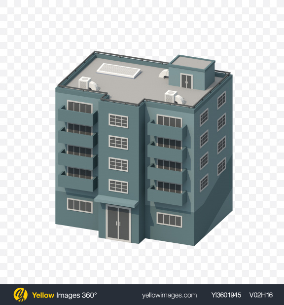 Download Grey Low Poly Building Transparent PNG on YELLOW Images