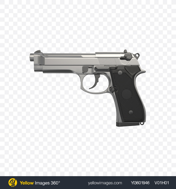 Download Steel Gun Transparent PNG on Yellow Images 360°