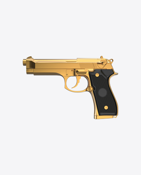 Gold Gun with Black Handle