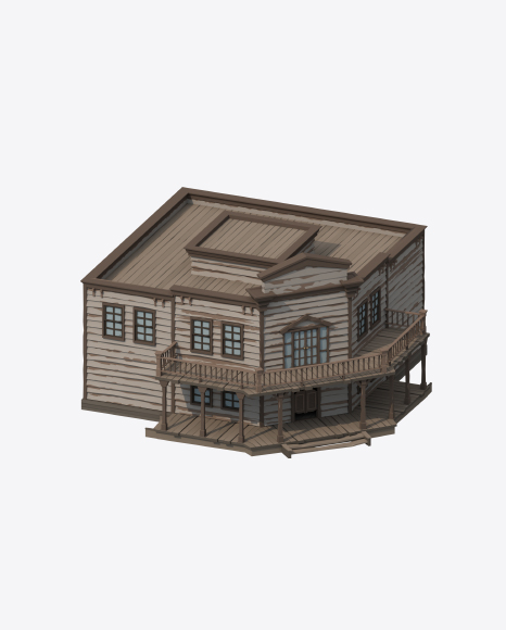 Low Poly Saloon