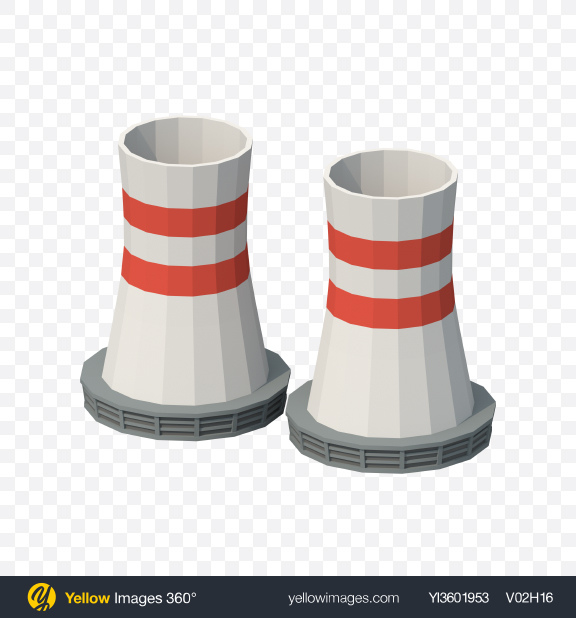 Download Low Poly Cooling Towers Transparent PNG on PNG Images