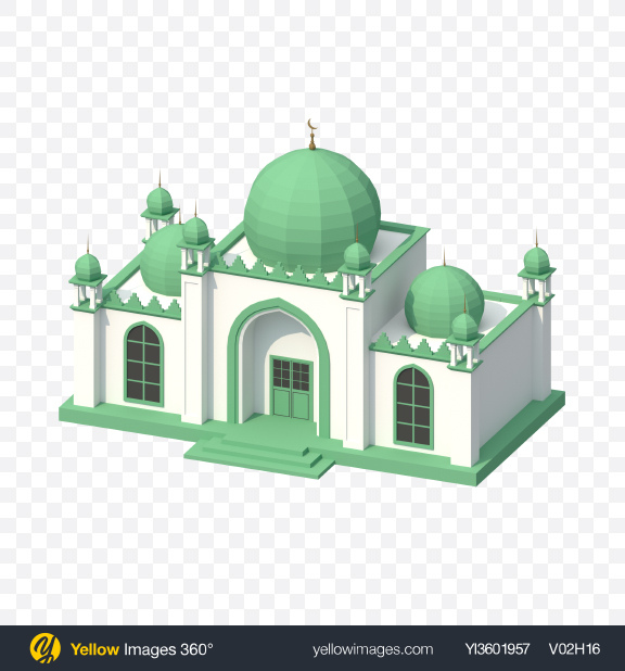 Download Low Poly Mosque Transparent PNG on PNG Images