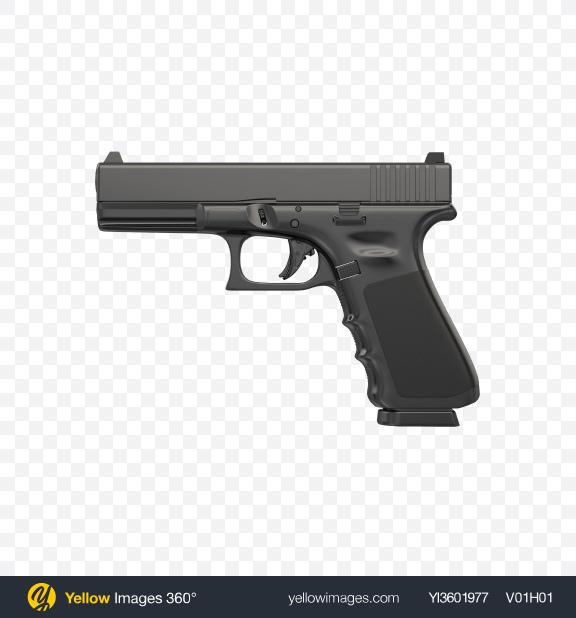Download Black Gun Transparent PNG on Yellow Images 360°