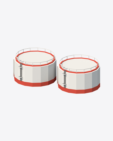 Low Poly Storage Tanks