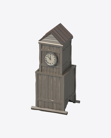 Low Poly Western Clock Tower