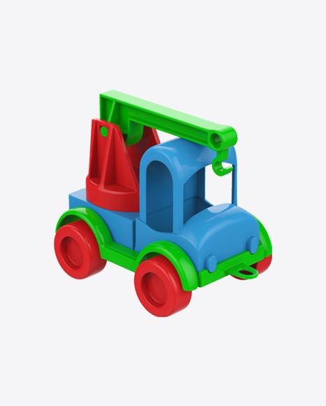 Crane Truck Plastic Toy