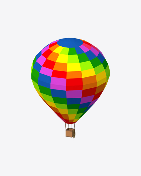 Low Poly Air Balloon