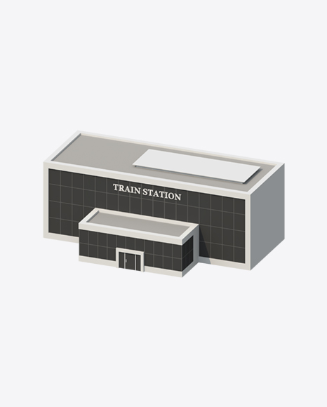 Low Poly Train Station