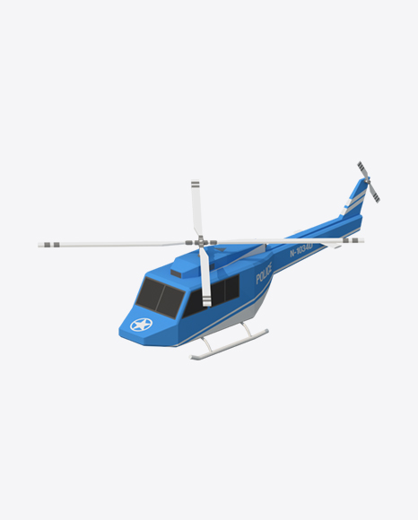 Low Poly Police Helicopter