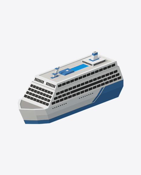 Low Poly Cruise Ship