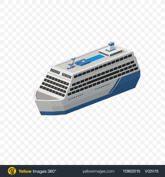 Download Low Poly Cruise Ship Transparent PNG on Yellow Images 360°