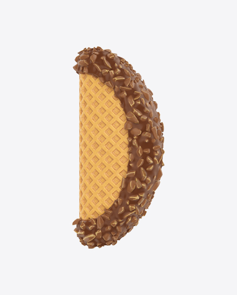 Ice Cream Taco in Milk Chocolate with Nuts