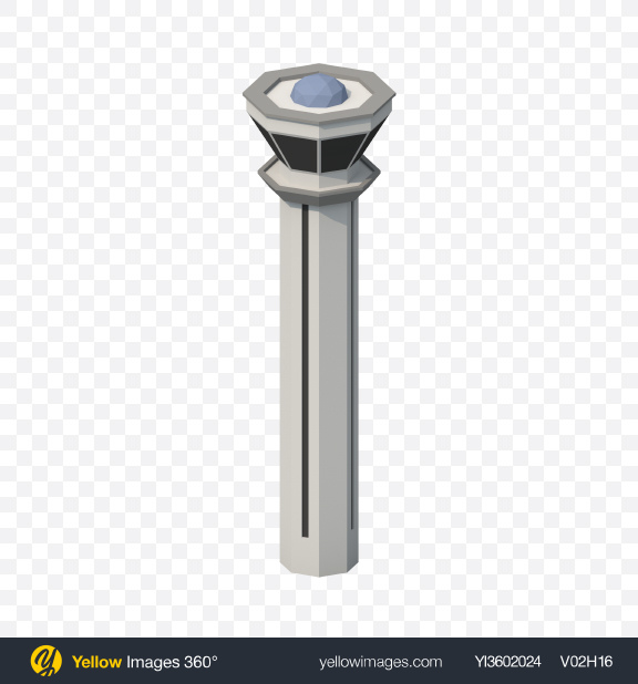 Download Low Poly Airport Traffic Control Tower Transparent PNG on PNG Images
