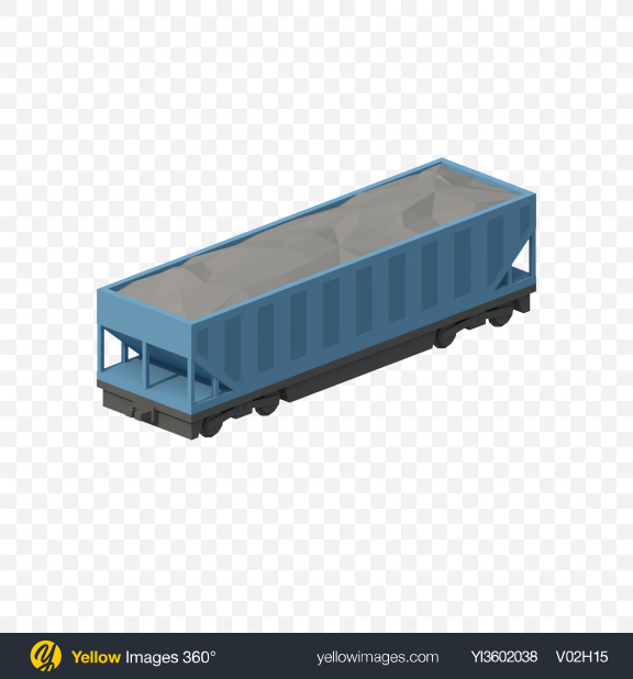 Download Low Poly Hopper Car with Coal Transparent PNG on PNG Images
