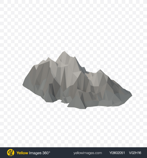Download Low Poly Mountain Transparent PNG on Yellow Images 360°