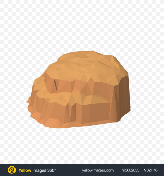 Download Low Poly Mesa Transparent PNG on Yellow Images 360°