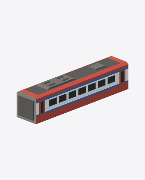 Low Poly Passenger Coach
