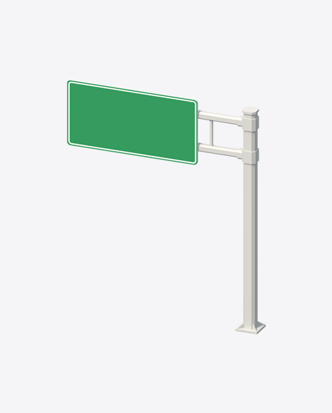 Low Poly Highway Sign