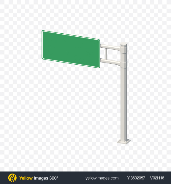 Download Low Poly Highway Sign Transparent PNG on Yellow Images 360°