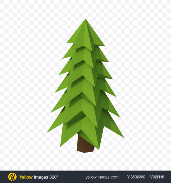 Download Low Poly Fir Transparent PNG on Yellow Images 360°