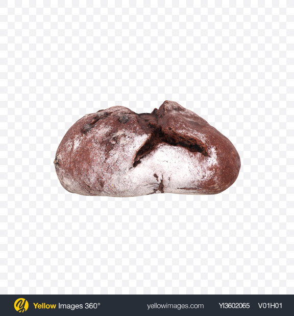 Download Round Chocolate Bread Transparent PNG on Yellow Images 360°