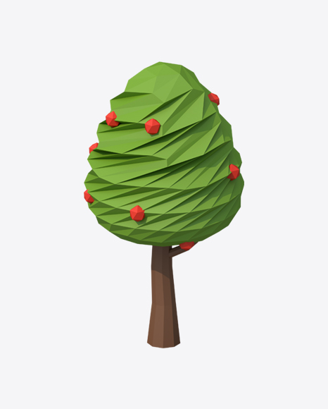 Low Poly Apple Tree