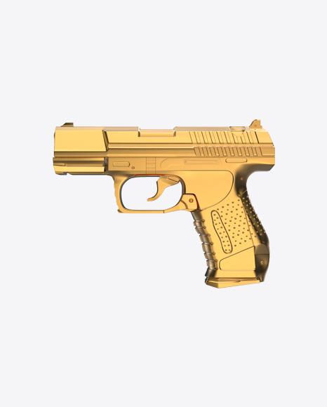 Gold Handgun