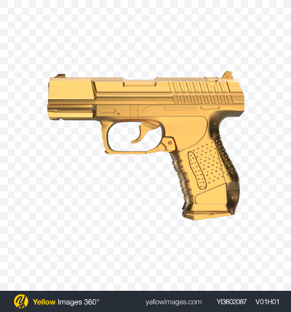Download Gold Handgun Transparent PNG on PNG Images