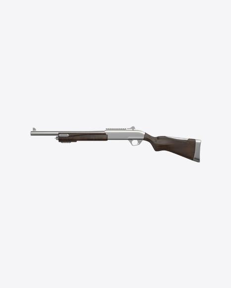Steel Shotgun with Wooden Parts