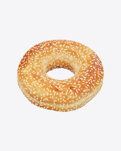 Donut with Sesame Seeds